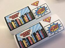 Personalised Wrappers For Chocolate Kitkat Bars Super Hero Party x 12