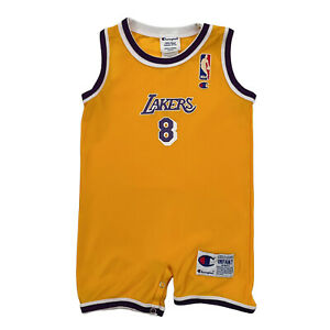 Vintage Champion Lakers Kobe Bryant Infant 12 MONTHS Jersey Baby One Piece