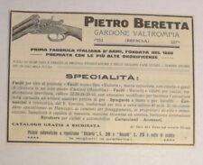 Pubblicità epoca 1932 BERETTA FUCILE ARMI BRESCIA advertising reklame werbung