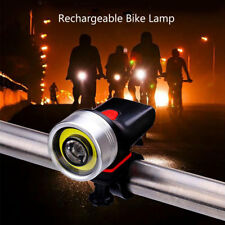 LUCI BICI ANTERIORE LED BICICLETTA FARETTO LIGHT BIKE FARO LUCE Ricaricabile USB