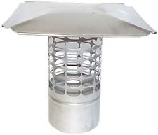 Slip-In 8 in. Round Fixed Stainless Steel Chimney Cap Fireplace Accessories New