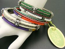 $38 Spring Street *India* 8 pc SET Hematitetone Rhinestone Bangle Bracelet AS-IS
