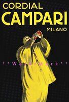 Cordial Campari 1921 Milan Italy Vintage Poster Print Cappiello Art