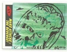2017 Topps Mars Attacks The Revenge ! Martian Sketch Card by Clinton Yeager (B)