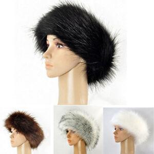 Russian Style Pelz Stirnband Ohr Damen Wärmer Earmuffs Hut Mütze Ski Stilvoll