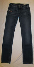 DIESEL WENGA mid rise slim fir straight leg stretchy distressed jeans 25 NWOT