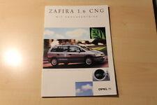 01624) Opel Zafira 1.6 CNG Prospekt 05/2001