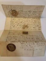 1865 Land Transfer Document, Floyd County, IN Indiana ~ Hancock & Bence