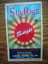 Sunrise Brand Firecracker Pack Label 40's