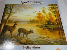 Sunsout QUIET EVENING 500 Piece Jigsaw Puzzle Deer Fall Lake Scene Mary Pettis