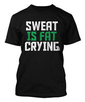 Sweat Is Fat Crying - Gym Workout Exercise Men's T-shirt