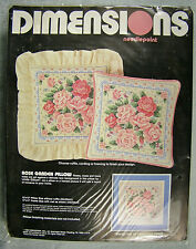 Dimensions Rose Garden Pillow Needlepoint Kit - New Old Stock