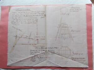 Bauzeichnung - Situationspaln - Mühle - Windmühle  - Osterburg - Schulenburg -