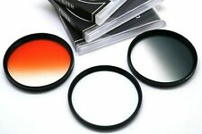 72mm Graduated Grey Orange + Diffuser Filter Set For Tamron Sigma Lens & Others