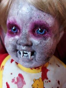 creepy vampire doll Horror Decor / Halloween Prop / OOAK Gothic Doll Horror doll