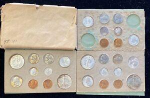 UNCIRCULATED ORIGINAL (28 pc) 1947  P , S , D  U.S. DOUBLE MINT SET W/ ENVELOPE