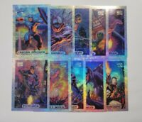 1994 Marvel Masterpieces Silver Holofoil Set 1-10