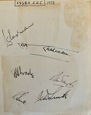 Cricket - Essex autographs 1938