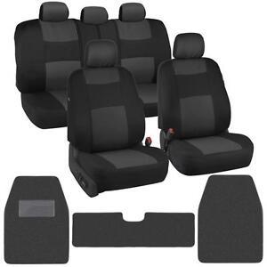 Classic Black Charcoal XL Carpet Floor Mats Auto Rug+Cloth Car Seat Covers⭐⭐⭐⭐⭐