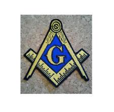 Masonic Logo - Masons - Freemason - Lodge - Embroidered Iron On Symbol Patch YB