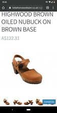 Lotta From Stockholm Mary Jane brown oiled nubuck clogs size 41