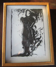 "JOHN P WILSON ""Untitled"" LITHOGRAPH #d 6/6 Autographed signed in pencil 16""x12"""