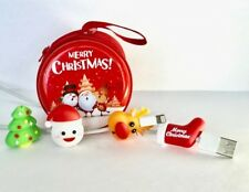 5PCS Christmas USB cable Bites Protector with storage pouch for Iphone charger