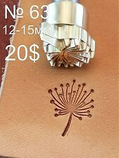 Leather stamp tool for leather craft DIY brass stamp #63