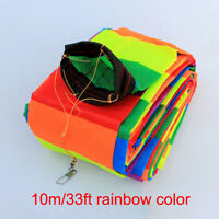 NEW 10M 3D Super Nylon long tail Triangle Kite Tail Line Outdoor fun Sports