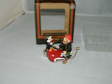Harley Davidson Ornaments - 1997 - Elf On a Gas Tank With a Penguin