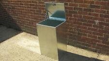Pet feed Storage Galvanised Steel Dog/Cat food Kennel bin Bird seed (1c)