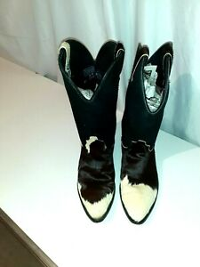 cowboy boots CODE WEST 9 M cow hide hair on