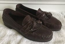 Mens Dexter Tassle Loafer Shoes Size 8 Medium Brown USA Made Casual