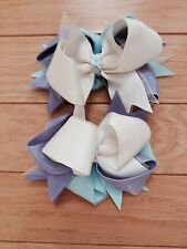 Boutique Hair bows childrens handmade pageant dance Easter BEAUTIFUL!