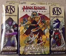 WizKids Mage Knight - Dungeons Pyramid 2x Booster + 1 Starter Box (Mint)