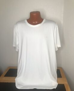 Mens Under Armour Heat Gear S/S Athletic T-Shirt Size 3XL XXXL White - Poly