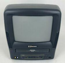 "Vintage Emerson 9"" Color TV-VCR Combo Retro Gaming Inputs VHS EWC0903 *No Remote"