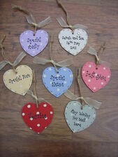 Shabby personalised Gift Tag Chic ANY COLOUR / WORDING.