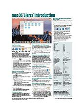macOS Sierra Introduction Quick Reference Guide (Cheat Sheet of... Free Shipping