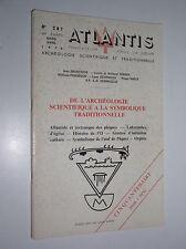 ATLANTIS N°287 - DE L'ARCHEOLOGIE SCIENTIFIQUE A LA SYMBOLIQUE TRADITIONNELLE