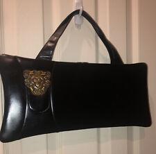 Large Black 1940s-1950s Handbag