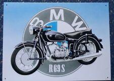 BMW R69S Bicicleta de Alemán Motocicleta Garaje Vintage Publicidad Metal Letrero De Pared De Acero