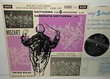 SXL 2196 Mozart Notturno For Four Orchestras Serenata Notturna LSO Maag ED1 WBG