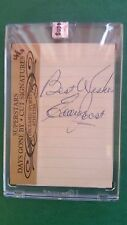 EDDIE JOOST 2011 SUPERSTARS CUT SIGNATURES DAYS GONE BY AUTOGRAPH A'S/REDS 4/4