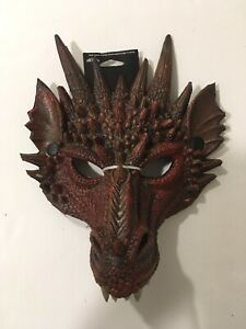 Adult Red Fire Dragon Rhaegal Halloween Mask - Brand New With Tags!
