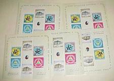 Nicaragua Stamps Sheetlets Mint Nh 1958 #C409A Cat.$72.00