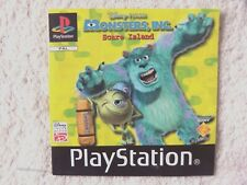 47622 Instruction Booklet - Monsters, Inc. Scare Island - Sony PS1 Playstation 1