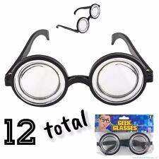 12 Nerd Glasses Round Bubbles Glasses Bug Eyes Specs Coke Bottle Costume Goggles