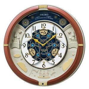 SEIKO Wall Clock RE601B  Analog 52 Melody Automaton clock 30th Anniversary FS