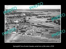 OLD LARGE HISTORIC PHOTO SPRINGHILL NOVA SCOTIA CANADA, MINE AERIAL VIEW c1930